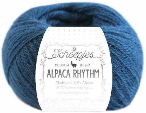 alpaca wol garen blauw