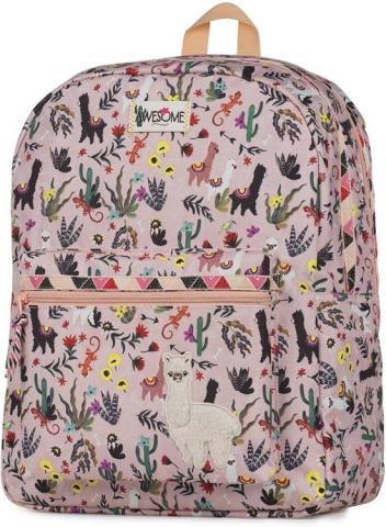 Alpaca rugzak meisjes roze