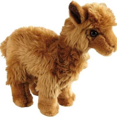 Bruine pluche alpaca knuffel